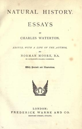 Natural history, essays