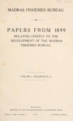 Madras fisheries bulletin
