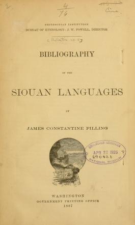 Smithsonian Institution, Bureau of Ethnology : [bulletin]