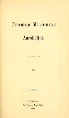 Tromsø museums aarshefter