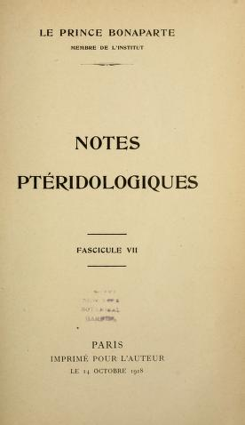 Notes ptéridologiques