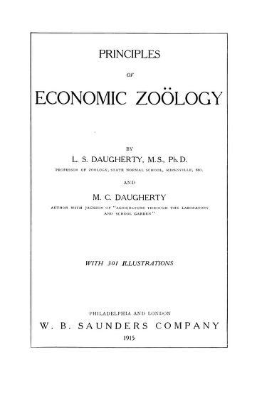 Principles of economic zoo̤logy