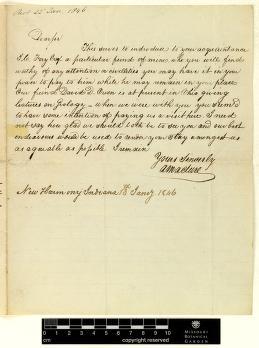 Correspondence : Maclure (Alexander) and Engelmann (George), 1846