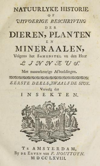 Natuurlyke historie : of, Uitvoerige beschryving der dieren, planten, en mineraalen