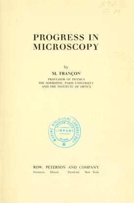 Progress in microscopy
