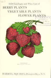 1924 catalogue and price list of berry plants, vegetable plants, flower plants