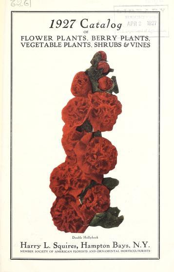 1927 catalogue of flower plants, berry plants, vegetable plants, shrubs & vines