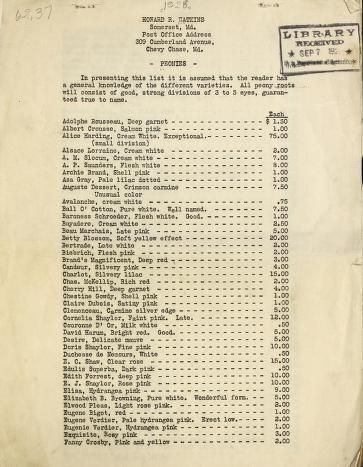 Peonies [price list]