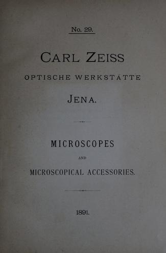 Microscopes and microscopical accessories