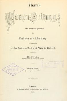 Illustrirte Garten-Zeitung