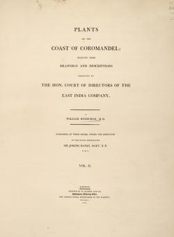 Plants of the coast of Coromandel :selected from drawings and descriptions presented to the hon. court of directors of the East India Company